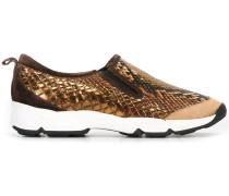 Slip-On-Sneakers mit Schlangenledereffekt