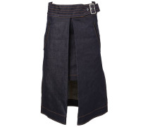 A-Linien-Jeansrock mit offener Front