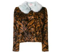 Betsy leopard print faux fur jacket