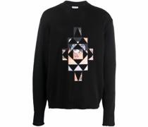 Pullover mit geometrischen Patches