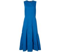 gathered detail flared dress - women