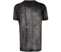 T-Shirt mit gebürstetem Effekt