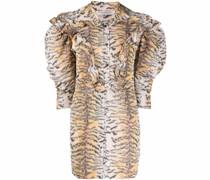 ruffled tiger-print dress