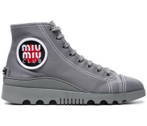 High-Top-Sneakers aus Canvas