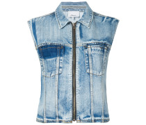 Jeansweste in Distressed-Optik - women