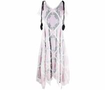 Patchwork-Kleid mit Zipfelsaum