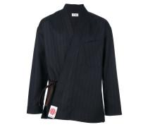 pinstripe kimono style jacket
