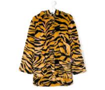 Pelzmantel mit Tigerfell-Muster