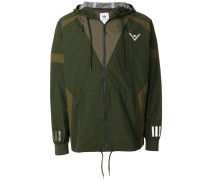 block panel hooded jacket