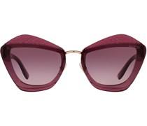 oversize-frame tinted sunglasses