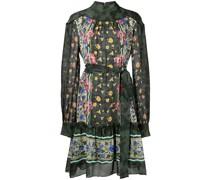 Jacquard-Kleid mit Blumenmuster