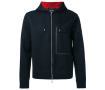 boxy zip hoodie - men - Modal - S