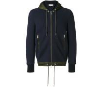 contrast trim hoodie