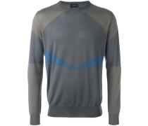 Pullover mit geometrischen Einsätzen - men