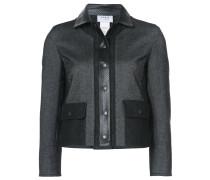 cropped zipped jacket