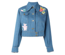 - Jeansjacke mit Patches - women - Baumwolle/PVC