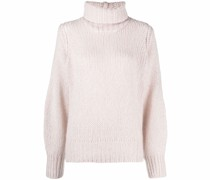 roll-neck chunky-knit jumper