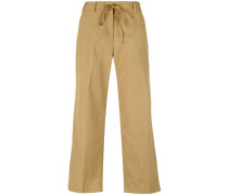 flared cropped trousers - women - Baumwolle - 42