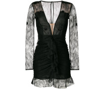 fitted v-neck lace dress