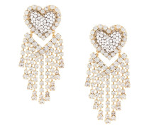 Chandelier-Ohrringe mit Herz