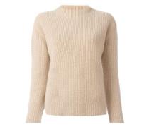Gerippter Pullover mit Schlitzen