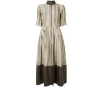 Ausgestelltes Kleid mit Längsstreifen - women