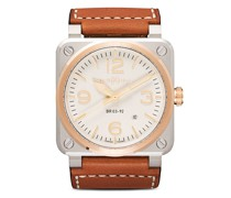 BR03-92 Steel and Rose Gold, 42mm