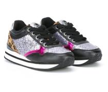 Sneaker mit Glitzer-Einsatz