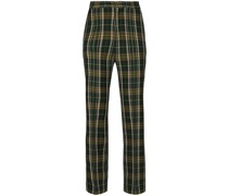 tartan-check flares trousers
