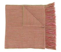 checked woven scarf
