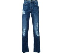 Schmale Jeans in Distressed-Optik