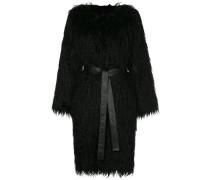 faux fur shaggy coat