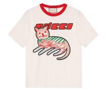 Sweatshirt mit Katzen-Print