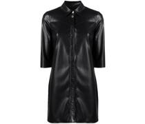 Hemdkleid aus Faux-Leder