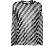 Transparentes T-Shirt mit Streifen