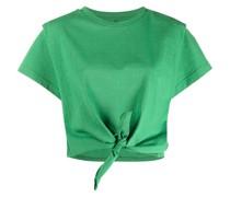 T-Shirt mit plissierten Details