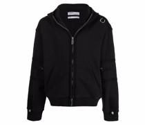 strap-detailed hoodie