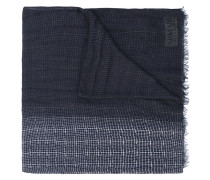 printed fringed scarf - men