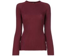 Schmaler Pullover mit Logo-Streifen