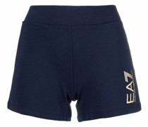 Schmale Shorts mit Logo-Print