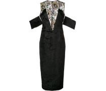 Verziertes Kleid mit Spitzeneinsatz
