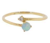 14kt Gelbgoldring mit Opal