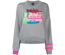 Pullover mit Vintage-Print