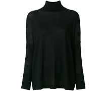 Fein gestrickter Oversized-Pullover
