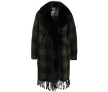 Mantel mit Faux-Fur-Kragen