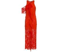 Drapiertes Kleid mit Spitzeneinsatz