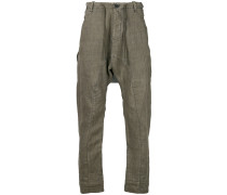 panelled crease trousers