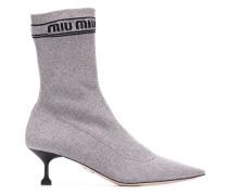 Sock-Boots mit Glitter