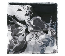 Schal mit Blumen-Print - women - Seide/Wolle