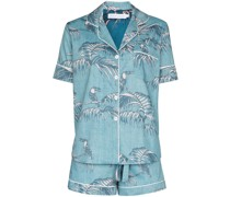 'Bocas' Pyjama mit Blatt-Print